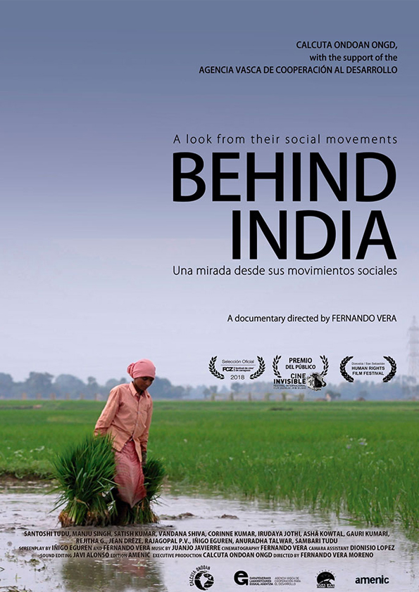 Behind India poster
